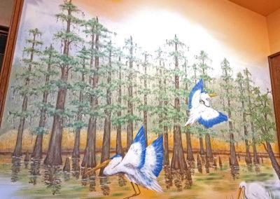 Swamp Scene Mural