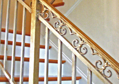 Gold and Silver Leaf of Iron Stair in New Orleans by Sylvia T Designs