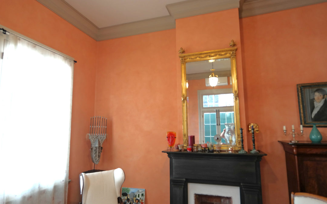 French Quarter Creole Cottage Plaster Wall Finishes