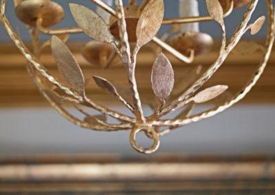 Gold Leafed Chandelier