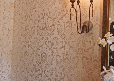 Pale Gold Damask Stencil