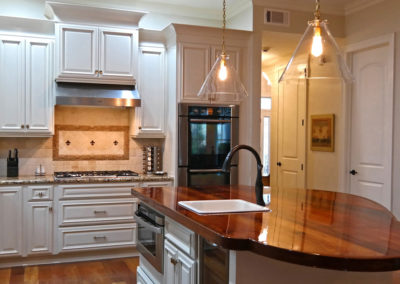Kitchen Cabinet Refinishing, New Orleans by Sylvia T Designs.