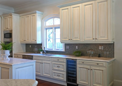 Kitchen Cabinet Refinishing in Old Metairie by Sylvia T Designs.