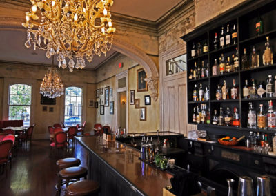 Cavan Restaruant & Bar, New Orleans - Old World wall glazing and bar finishing.