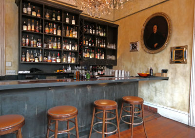 Cavan Restaurant & Bar, New Orleans - Old World wall glazing and bar finish by Sylvia T Designs