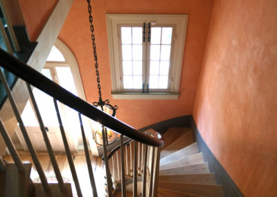 Sylvia T Designs - Old World plaster finish in an historic French Quarter residence stairwell.