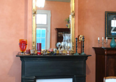 Sylvia T Designs - Old World plaster finish in an historic French Quarter residence.