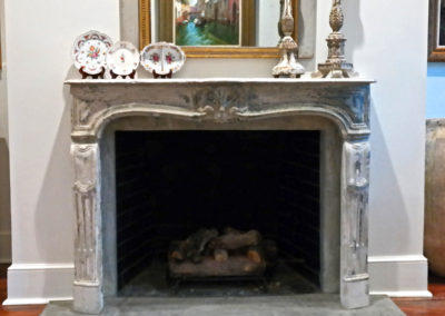Sylvia T Designs - Plaster applied over tile on a hearth in a Covington, Louisiana residence.