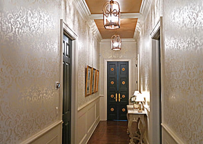 Sylvia T Designs - A Damask wall stencil in a New Orleans residence.