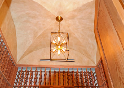 Sylvia T Designs - A hand-brushed glazing in a residential wine cellar groin vault in Covington, Louisiana.