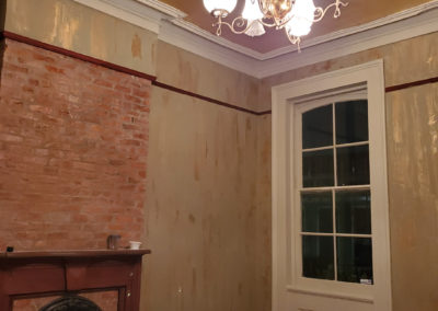 Sylvia T Designs – French Quarter Creole Cottage – Dramatic Plaster Finishes and Gold Leaf Ceilings – A look at the parlor as we get things rolling!