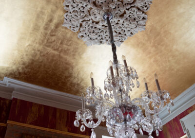 Sylvia T Designs_Gold Leafed Ceiling and Plastered Walls